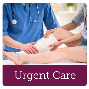 Urgent Care Physician caring for patient with a leg injury